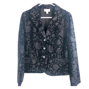 14 Black Talbots embroidered blazer lightweight